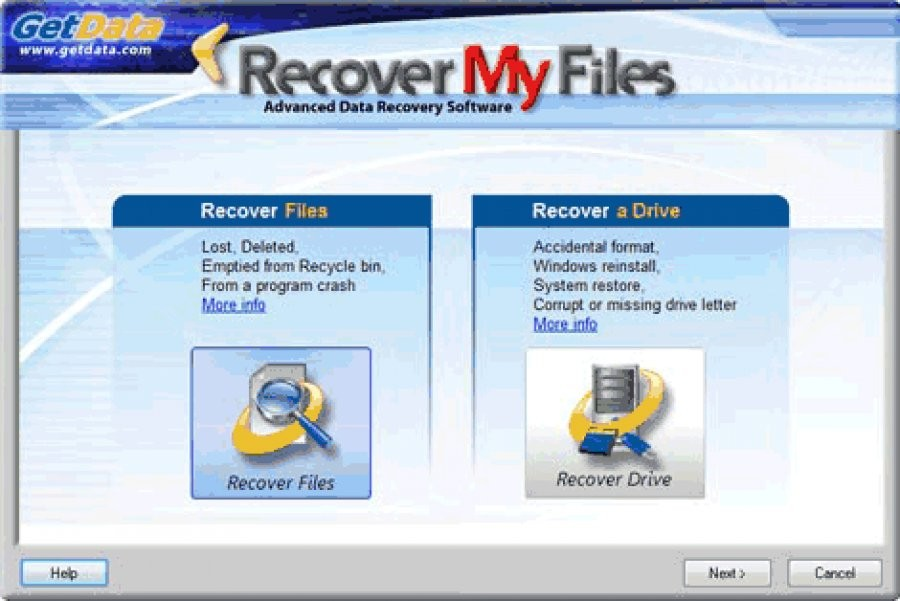 Recover My Files - Download for Windows