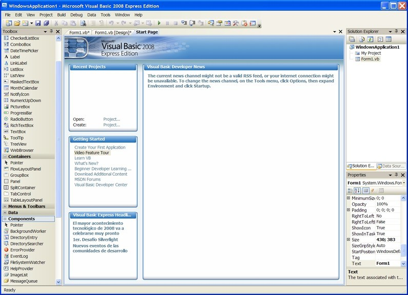 Opinions about Visual Basic 2008 Express Edition