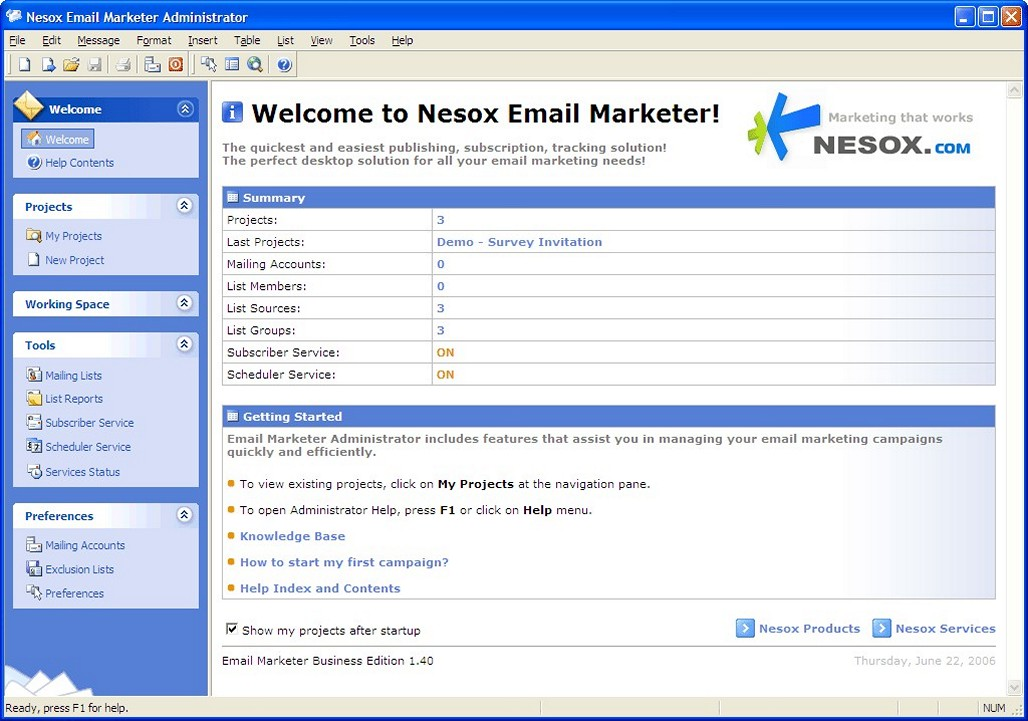 Nesox Email Marketer Personal Edition - Download for Windows