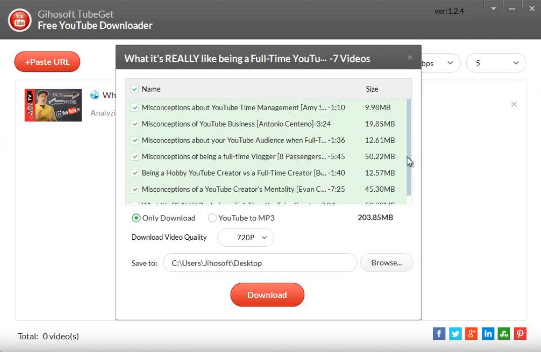 Gihosoft TubeGet Free YouTube Downloader - Download for