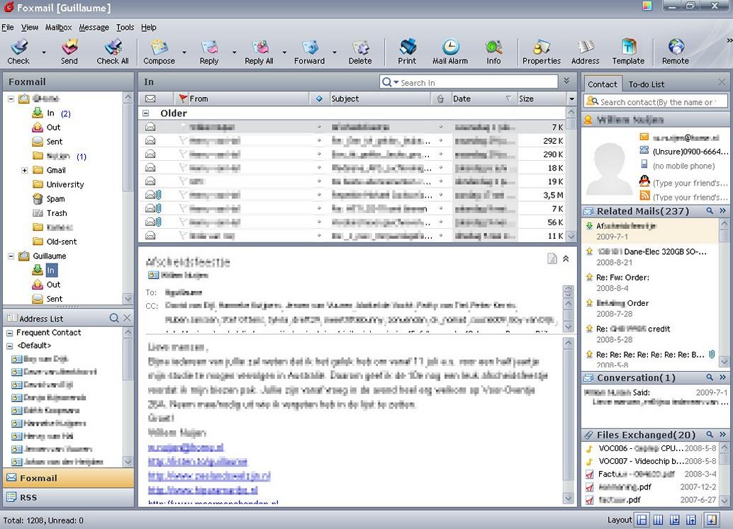 foxmail windows 7