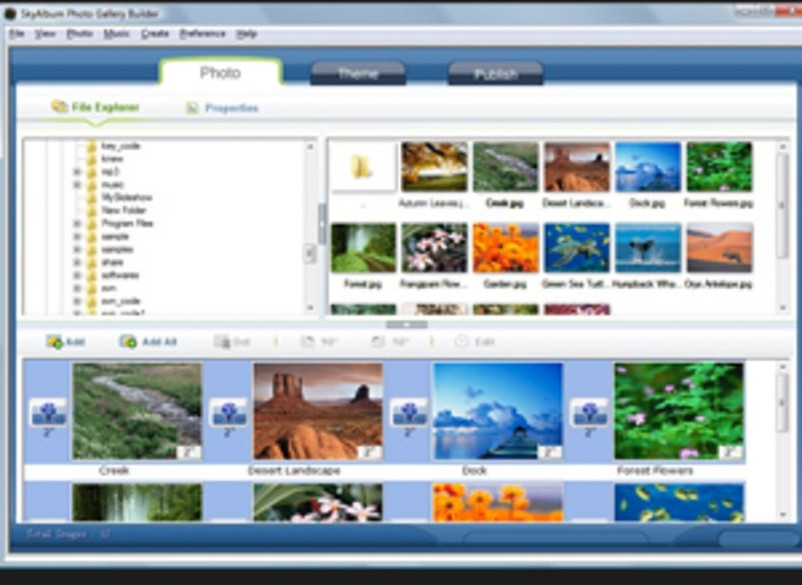 SkyAlbum Photo Gallery Builder - Download for Windows