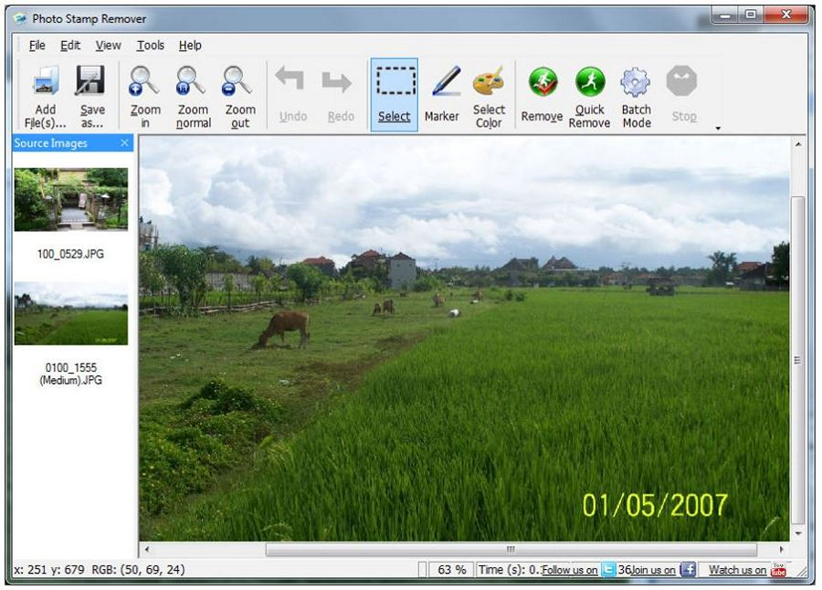 Photo Stamp Remover - Download for Windows
