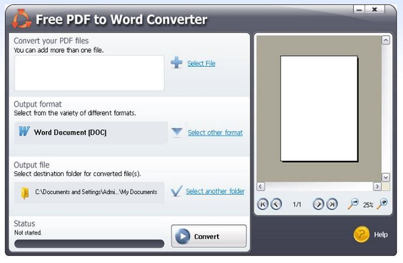 Free PDF to Word Converter - Download for Windows