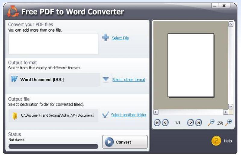 free pdf to word converter 5.1 0.383