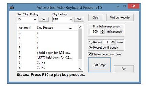 Auto Keyboard Presser Download For Windows 333download Com