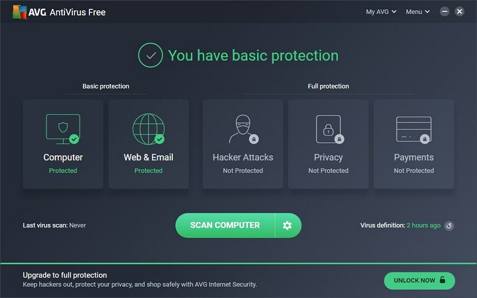 AVG Free - Download for Windows