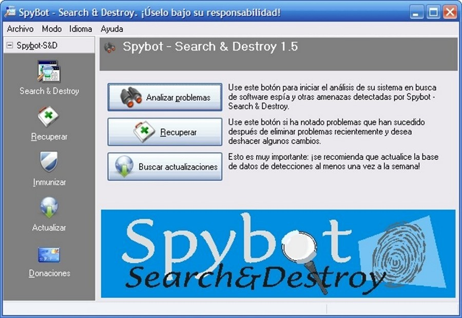SpyBot Search And Destroy - Download for Windows