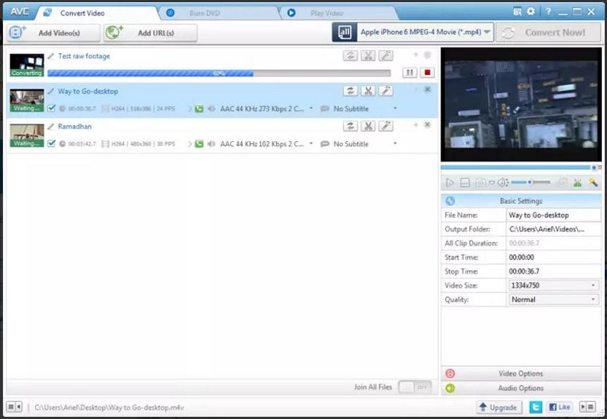 Any Video Converter - Download for Windows