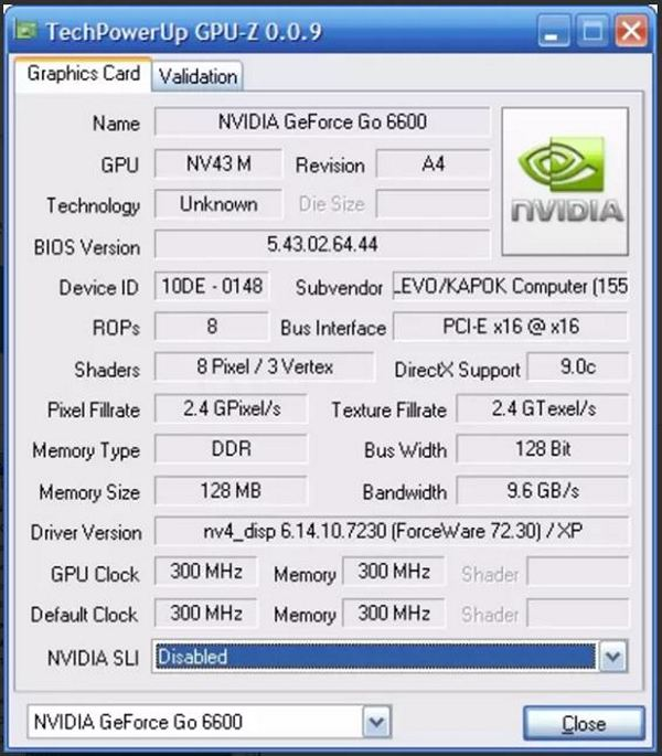 Monitors your graphic card's key features with GPU-Z