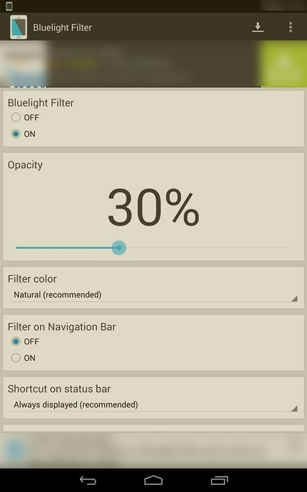 Bluelight Filter for Eye Care - Download for Android